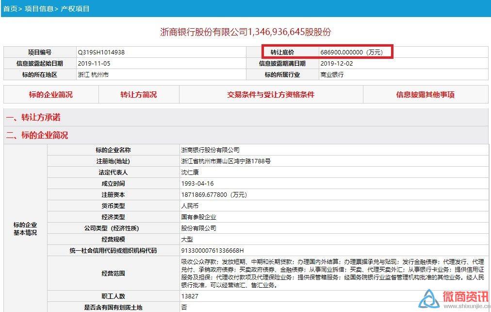安邦系又有大动作:70亿甩卖 一次性清仓浙商银行